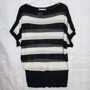 A Knitch Above Mesh Sweater